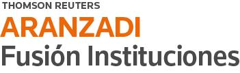 logotipo aranzadi fusión instituciones thomson reuters